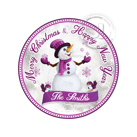 "Custom Snowman Printable 2.5'' Tags-Holidays Wishes Personalized Tags-DIY (You Print) 2.5"" tags-Digital File"
