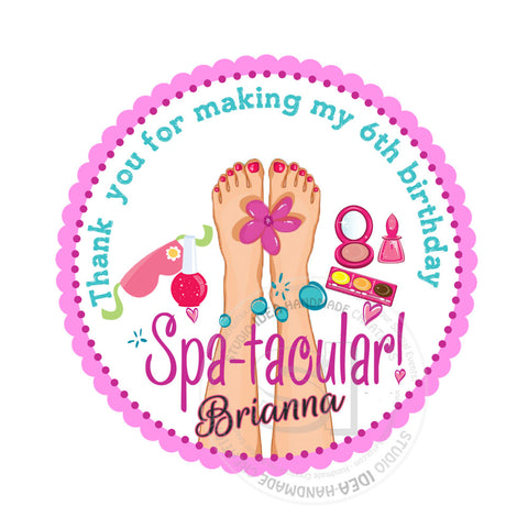 graphic relating to Spa Party Printable called Personalized Spa-tacular Get together Printable 2.5\