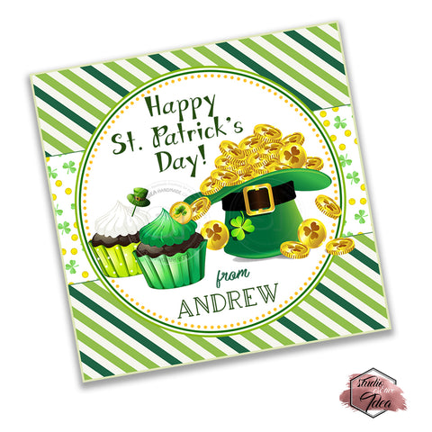 Happy St. Patrick's Day Printable Tag-Funny St Patrick's Day-D.I.Y Tags-You Print-St. Patrick's Personalized Tag-Sticker-size 2.5""