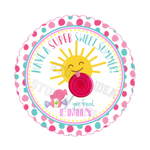 graphic relating to Have a Sweet Summer Printable referred to as Personalized Adorable Summer months Thank your self Printable 2.5\