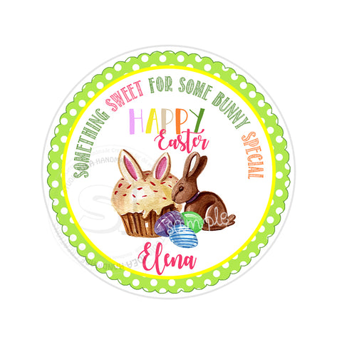 Easter Custom Printable 2.5'' Tags-Personalized Happy Easter-Easter Sweets- 2.5 inches Tags- Party Favor DIY Stickers - Tags -Digital file