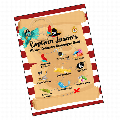 graphic about Free Printable Pirate Treasure Map named Custom made Pirates Topic Invitation with Absolutely free Pirate Treasure Map Scavenger Hunt -Custom-made Pirates concept Bash Printable - Electronic History