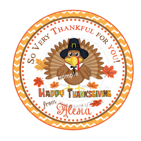 Thanksgiving Turkey Custom Printable 2.5'' Tags-Personalized Thanksgiving- 2.5 inches Tags- Party Favor DIY Stickers - Tags -Digital file