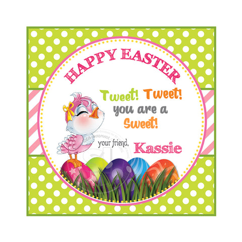 graphic regarding Happy Easter Sign Printable identify Delighted Easter Custom made Printable 2.5 Tags-Customized Joyful Easter 2.5 inches Tags- Occasion Desire Do-it-yourself Stickers - Tags -Electronic document