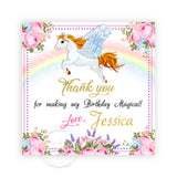Unicorn Magical Birthday Party Printable Invitation with FREE Thank you Tag-DIY Digital File-Unicorn-Rainbow-Magical Birthday Invitation -You Print