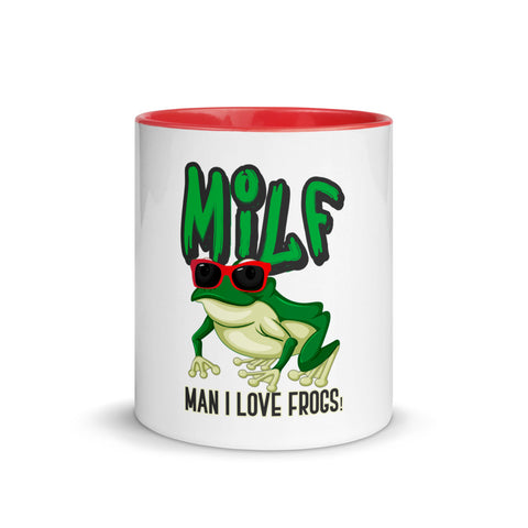 MILF-MAN I LOVE FROGS - Mug with Color Inside