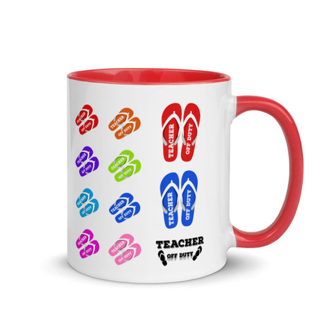 TEACHER OFF DUTY - Mug with Color Inside