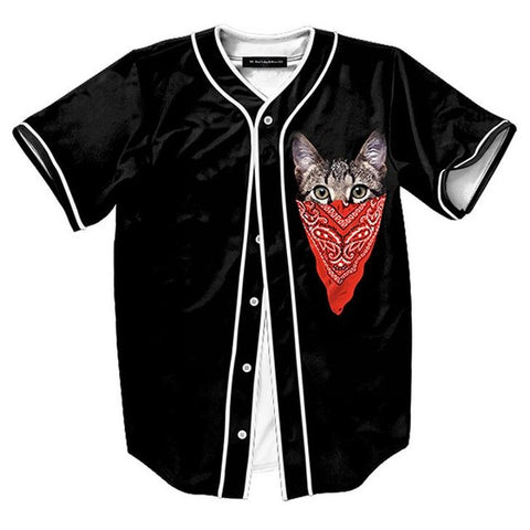 Hidden Cat Baseball Jersey