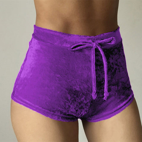 Purple Winter Style Rave Shorts - RaverGearZ