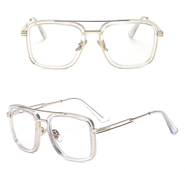 Clear with Gold Vintage Glasses