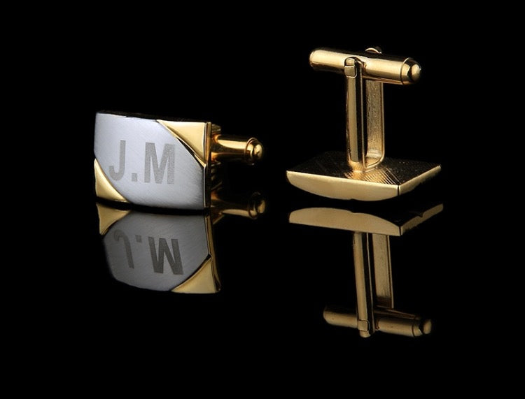 Gold Personalised/Customised Cufflinks