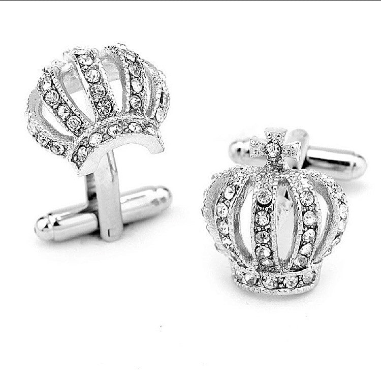 Diamond Crown Cufflinks