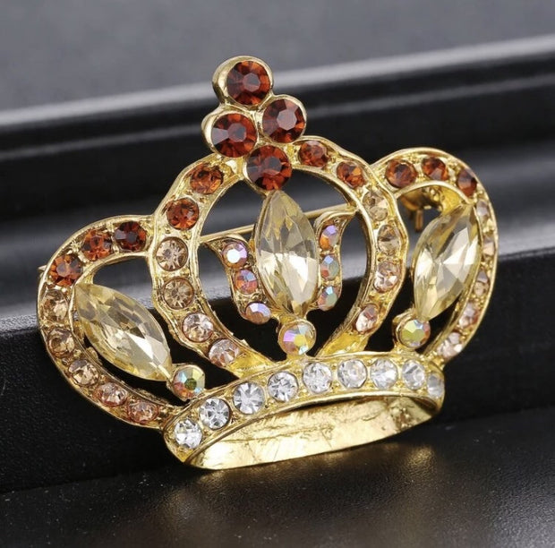 Large Crown Brooche