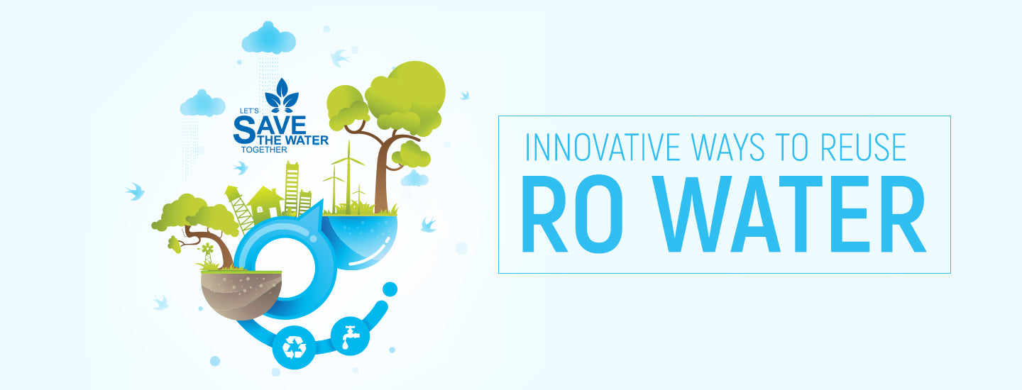 How can you reuse the water from your RO purifier?