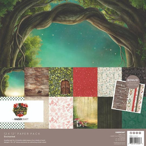KAISERCRAFT PAPER PACK + BONUS STICKER SHEET - ENCHANTED
