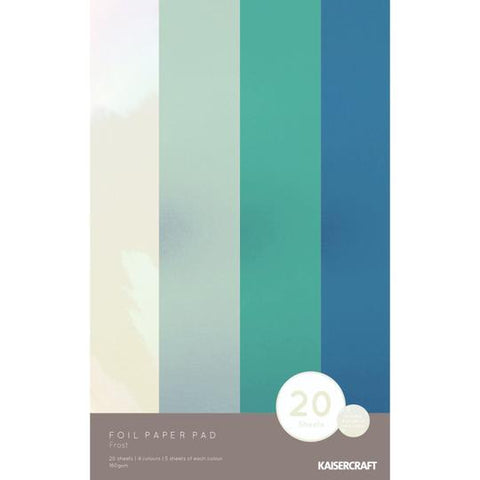 FOIL PAPER PAD - FROST 20 SHEETS KaiserCraft