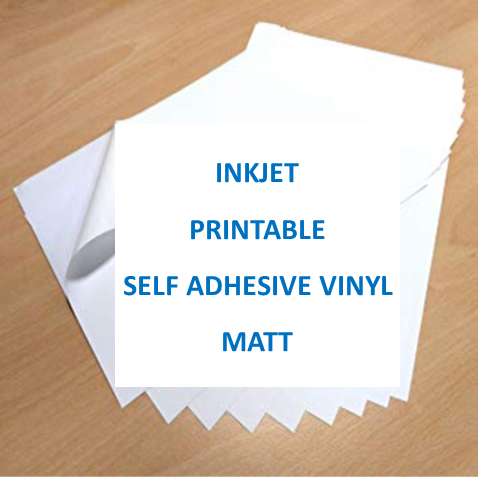 Inkjet Printable Self Adhesive Vinyl A4 - MATT FINISH