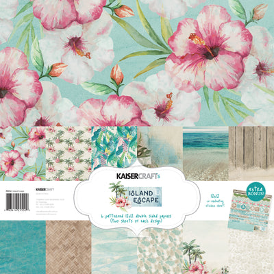 KAISERCRAFT PAPER PACK + BONUS STICKER SHEET - Island Escape