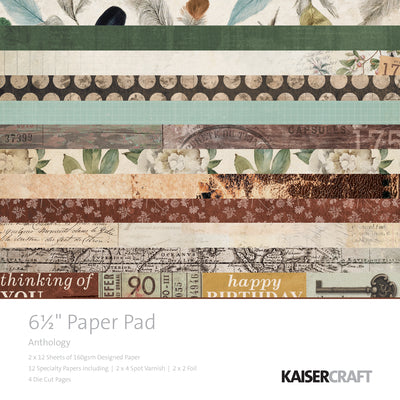 "6.5 X 6.5"" PAPER PAD - Anthology KaiserCraft"