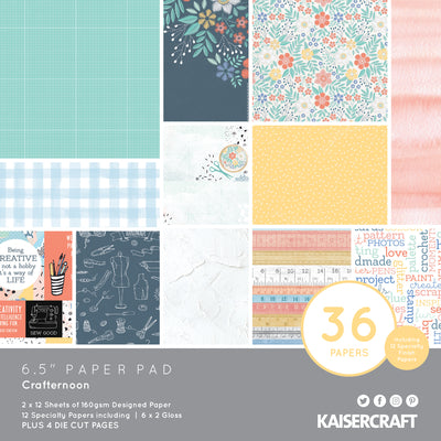 "6.5 X 6.5"" PAPER PAD - Crafternoon KaiserCraft"
