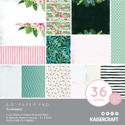 "6.5 X 6.5"" PAPER PAD - Sunkissed KaiserCraft"