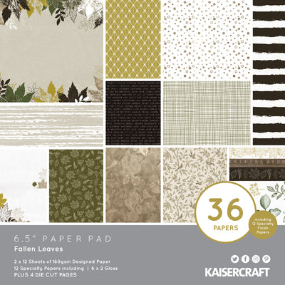 "6.5 X 6.5"" PAPER PAD - Fallen Leaves KaiserCraft"