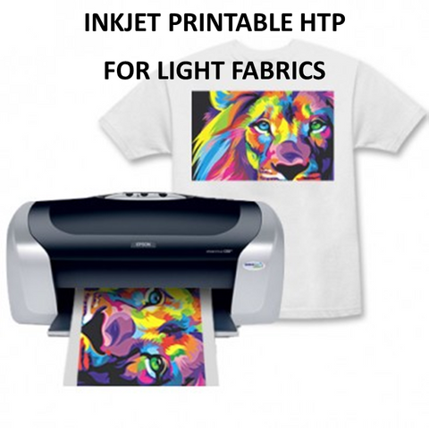 Inkjet Printable Light A4 Heat Transfer Paper (HTP)