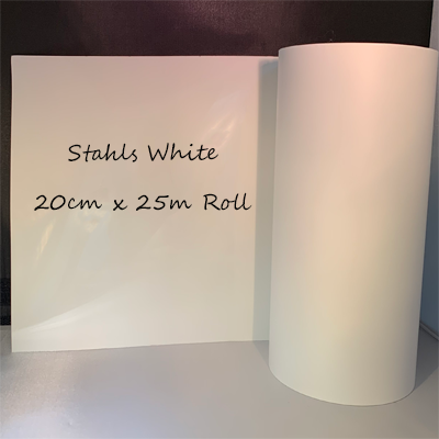 Stahls White HTV 20cm wide x 25 Meter Roll Special