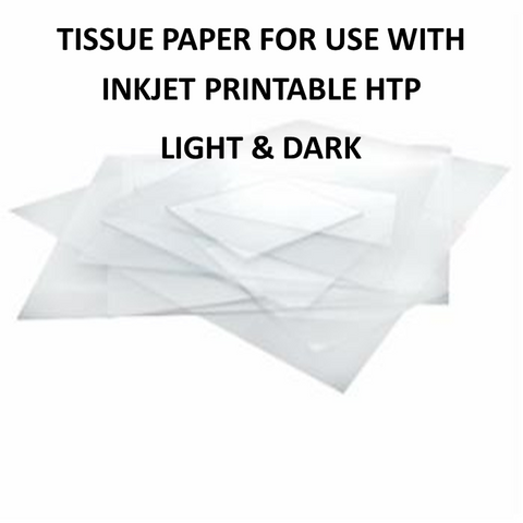 Inkjet Printable Tissue Paper A4  - For Use with Inkjet Printable Light/Dark HTP