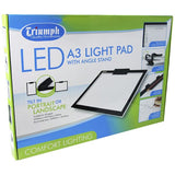 Triumph Led Light Pad A3 White With Angle Stand 345mm x 470mm x 5mm
