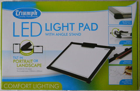 Triumph Led Light Pad A4 White With Angle Stand 230mm x 320mm