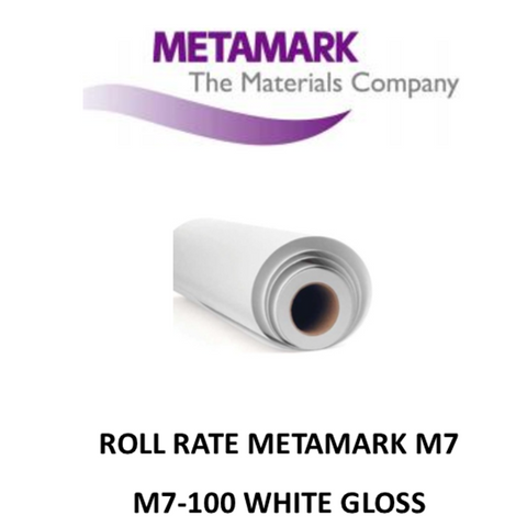 ROLL RATE M7-100 White Gloss Metamark M7 Self Adhesive Vinyl 30.5 CM WIDE X 50 METERS