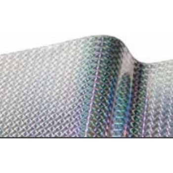 Silver Mosaic Holographic Self Adhesive Vinyl