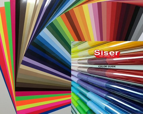 Siser PS Easyweed Full Color Pack + Bonus Color Chart (71 Sheets one of Every Color)