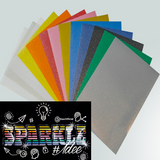 Siser Sparkle (Smooth Glitter) HTV SHEETS 20CM X 30CM