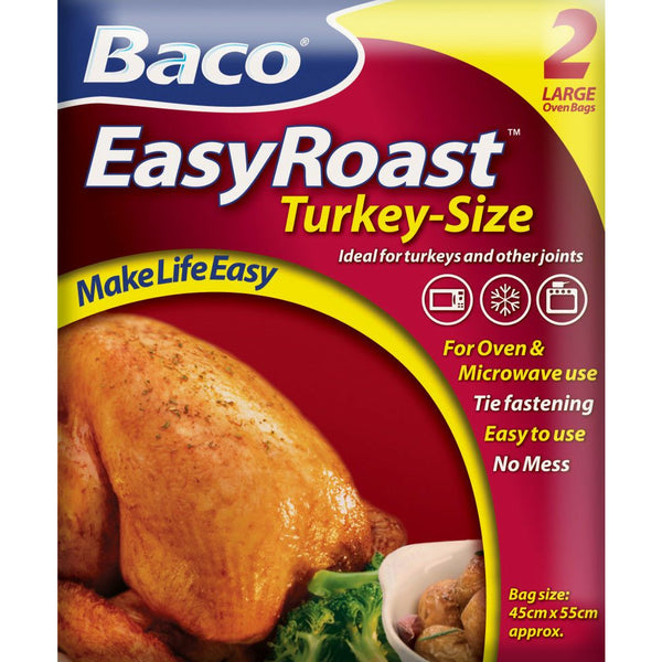 Baco EasyRoast Turkey Size Oven Bags ( 2 large bags)