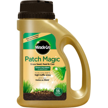 Miracle Gro Patch Magic Grass Seed, Feed & Coir 1015g Jug