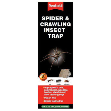 Rentokil Spider & Crawling Insect Trap - Pack of 3 Traps