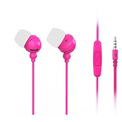 Maxell 303762 Plugz + Mic In-Ear Earphones with Microphone - PINK [Accessories]