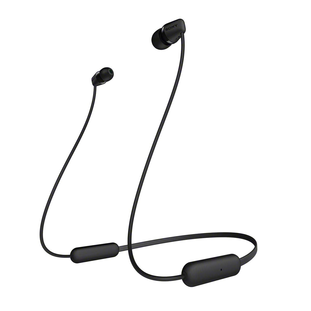 SONY WI-C200 Wireless Bluetooth Earphones - Black [Accessories]