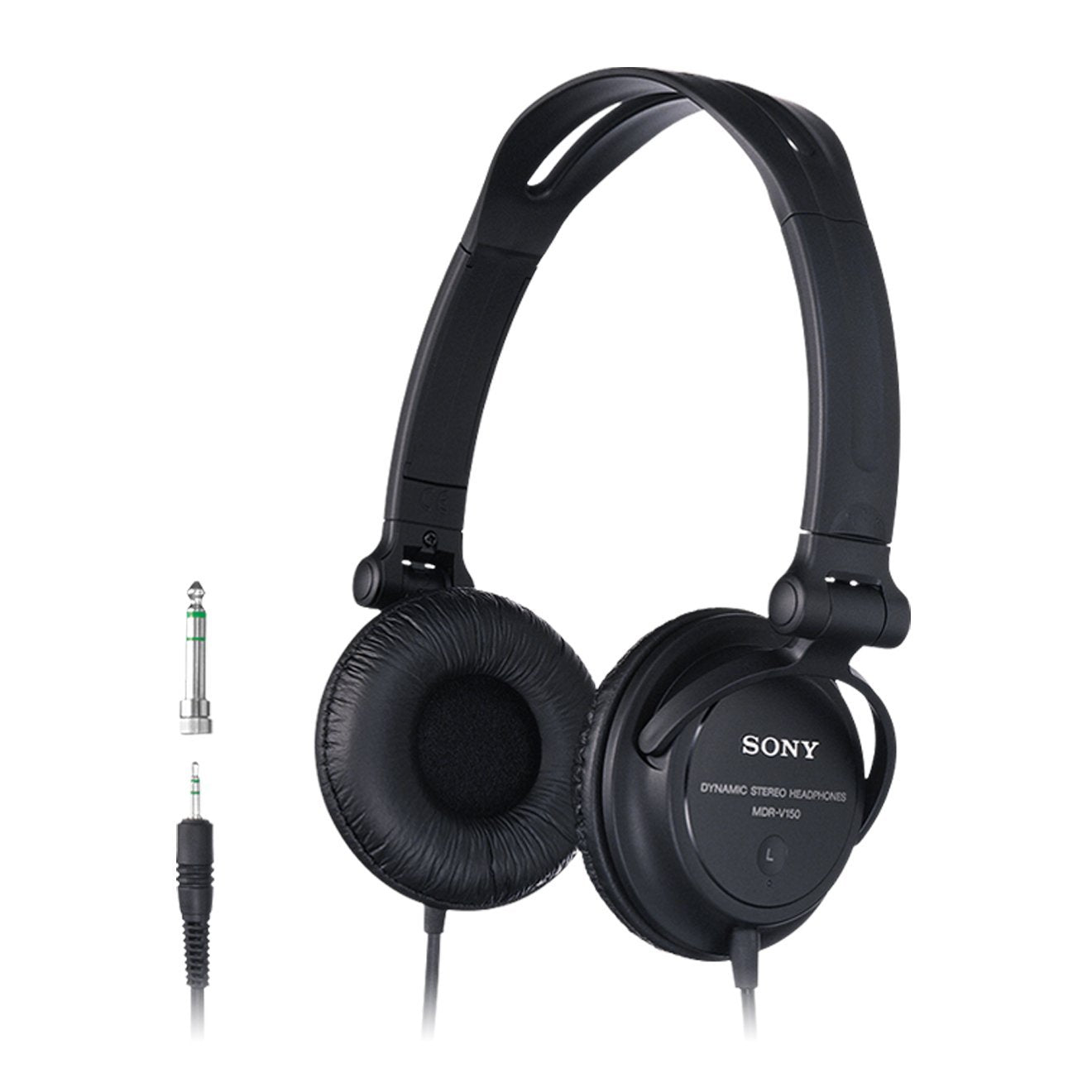 Sony MDR-V150 Headphones with Reversible Housing for DJ Monitoring - Black[Accessories]