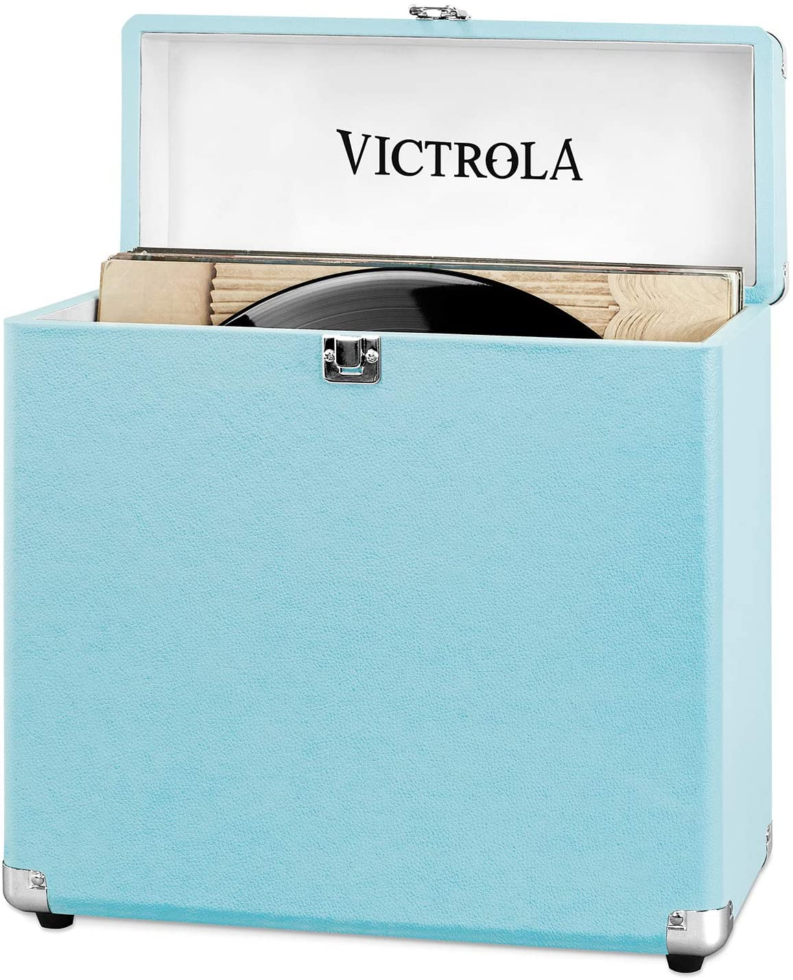 Victrola Portable Vinyl Storage Case - Turquoise [Accessories]