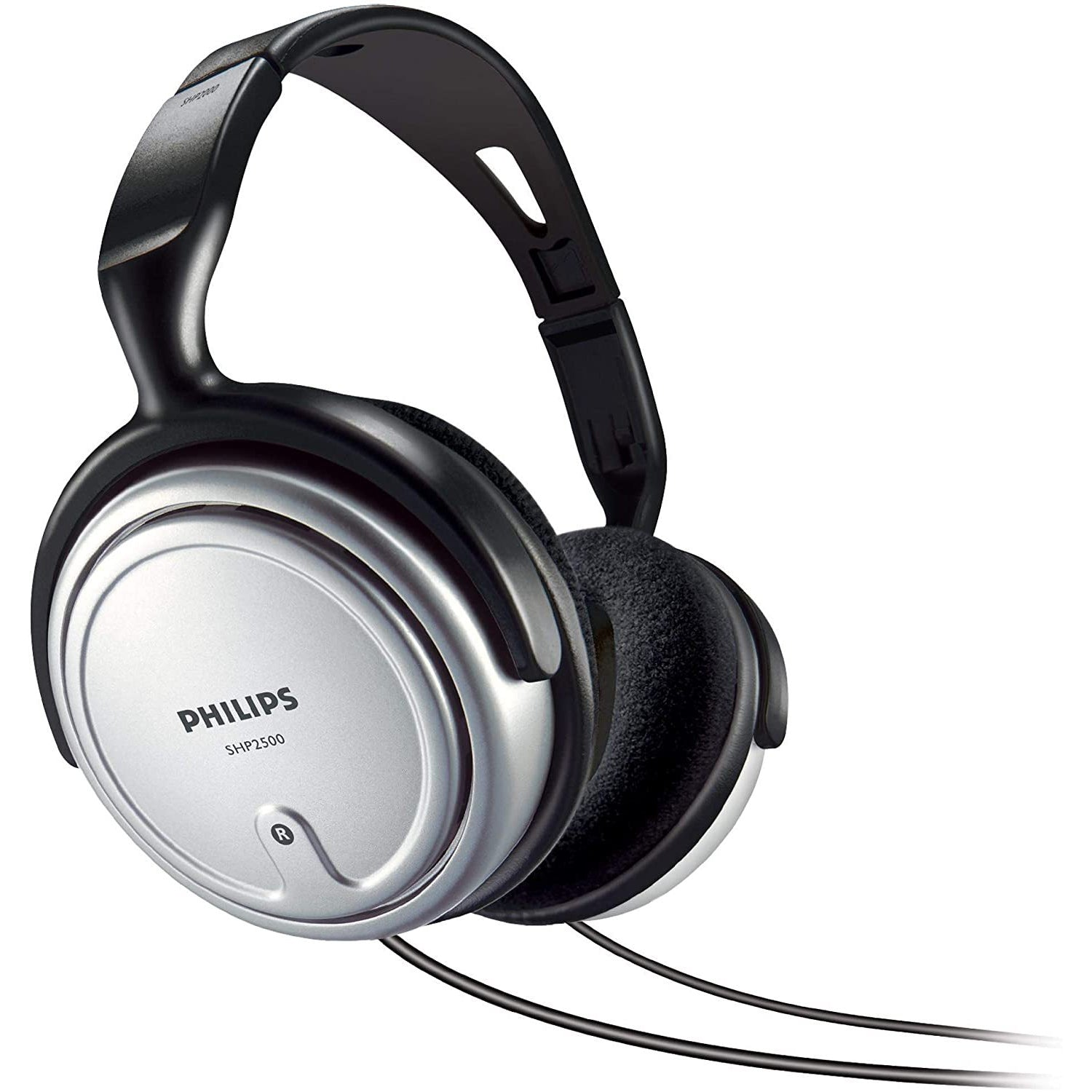 Philips SHP2500/10 Over-Ear Indoor Corded Headphone for Music/PC/TV - Gray [Accessories]