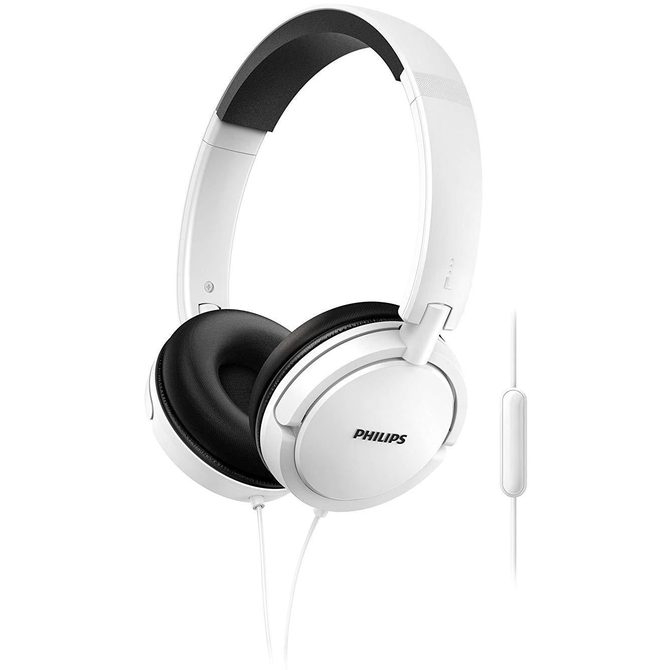 Philips on-ear headphones SHL5005WT/00 on-ear headphones with cable White [Accessories]