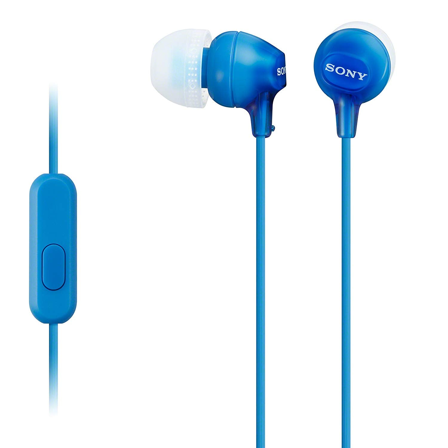 Sony MDR-EX15AP Earphones with Smartphone Mic and Control - Blue [Accessories]