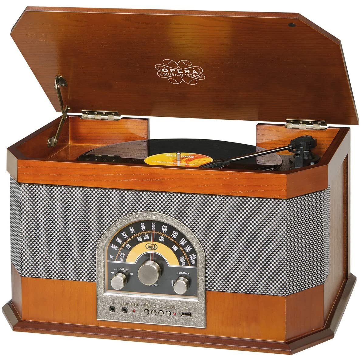 Trevi TT 1040 Vintage Stereo System - Wood [Tech & Turntables]