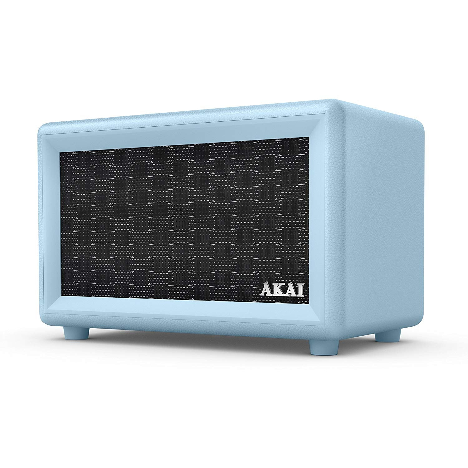 AKAI RETRO DESIGN BLUETOOTH SPEAKER WITH BUILT-IN RECHARGEABLE BATTERY: BLUE [TECH & TURNTABLES] GOLDEN DISCS