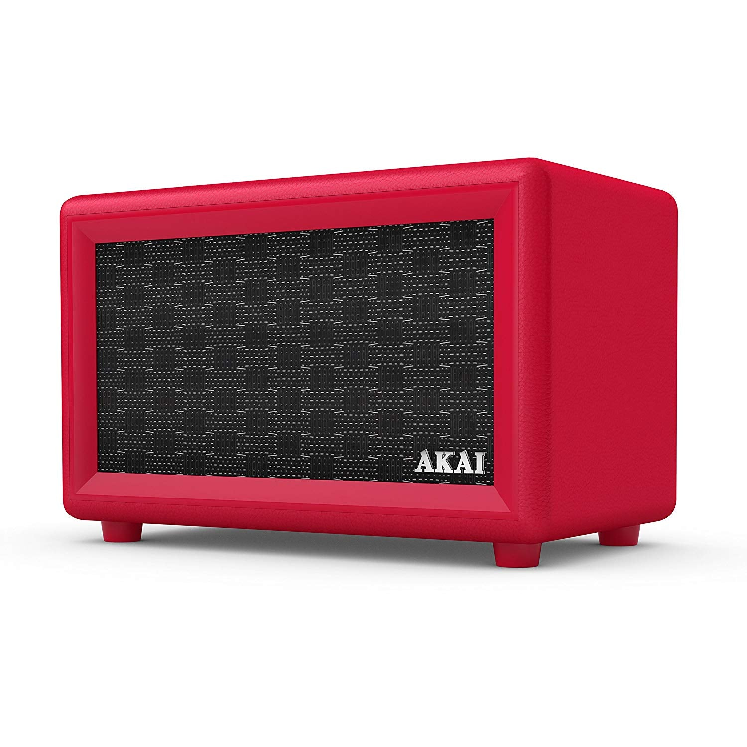 AKAI RETRO DESIGN BLUETOOTH SPEAKER WITH BUILT-IN RECHARGEABLE BATTERY: RED [TECH & TURNTABLES] GOLDEN DISCS