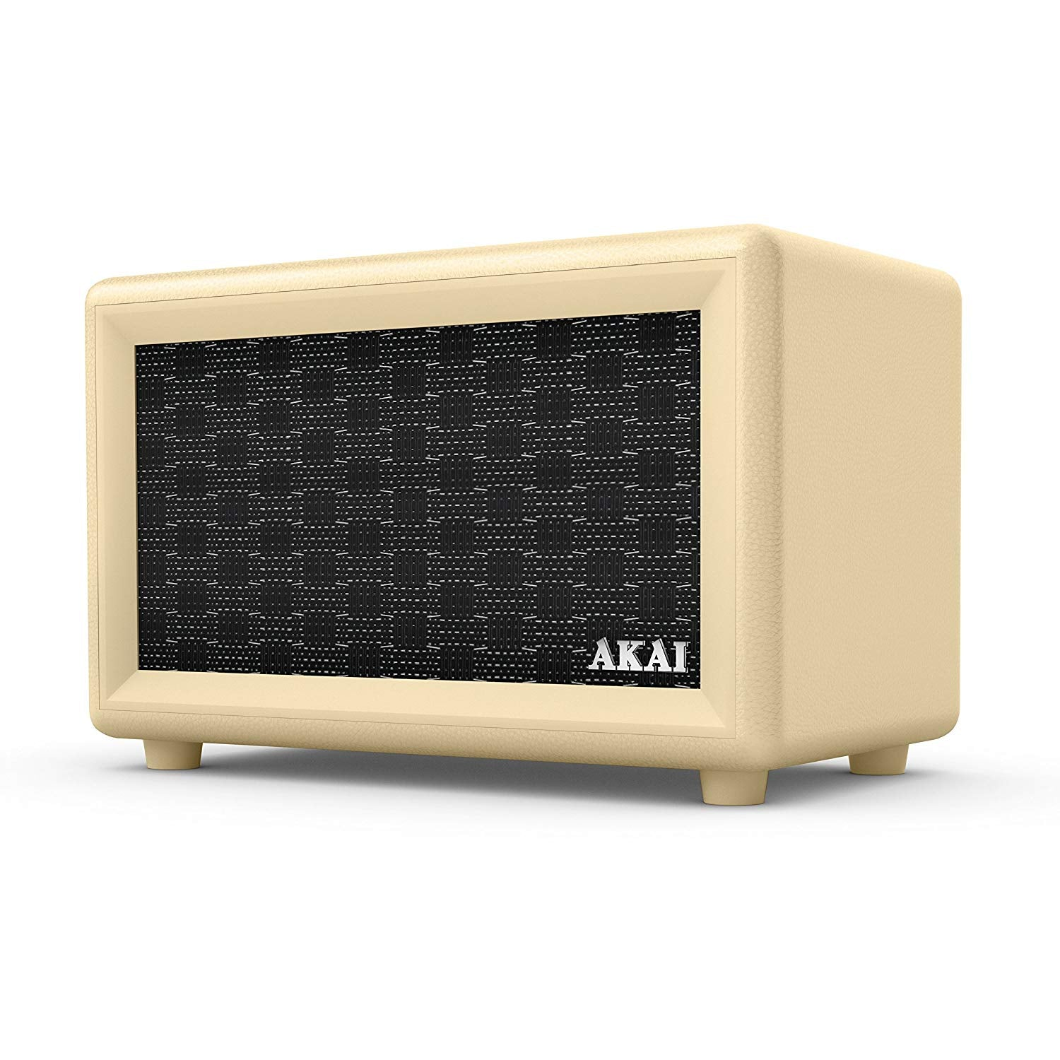 AKAI RETRO DESIGN BLUETOOTH SPEAKER WITH BUILT-IN RECHARGEABLE BATTERY: CREAM [TECH & TURNTABLES] GOLDEN DISCS