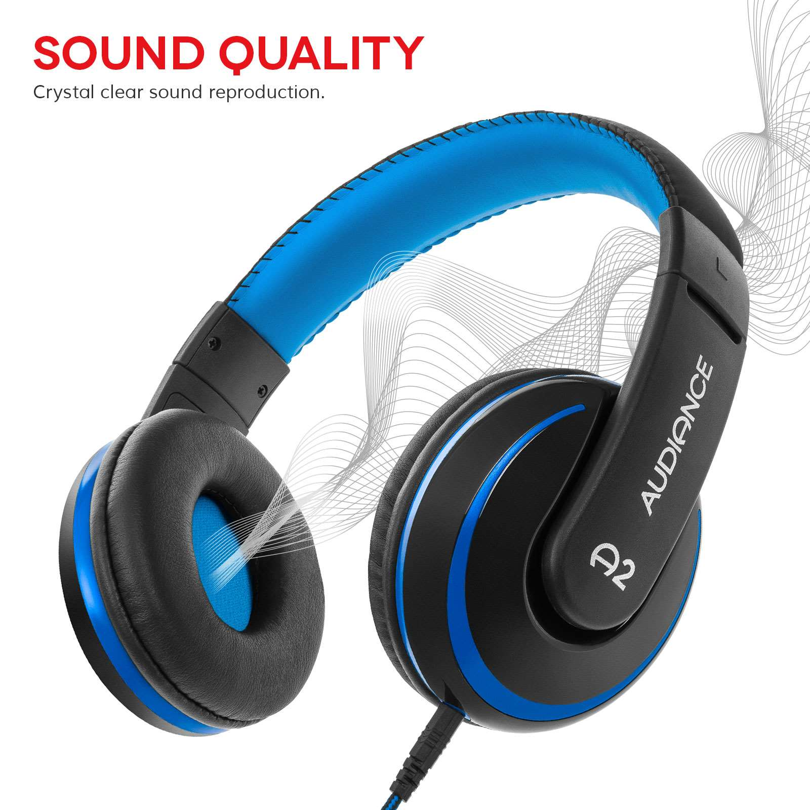 Audiance A2 Headphone Blue: Black [Accessories]